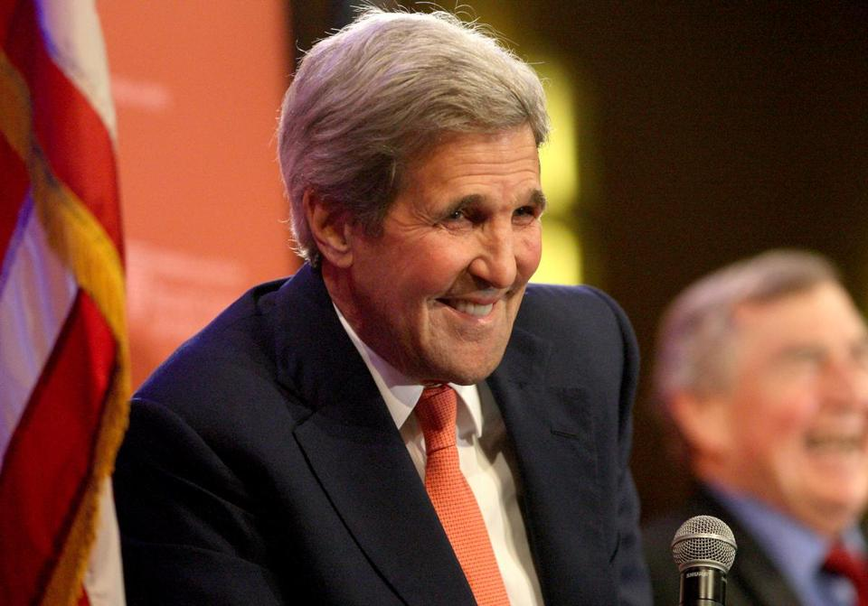 Kerry, during his appearance at the Charles Hotel.