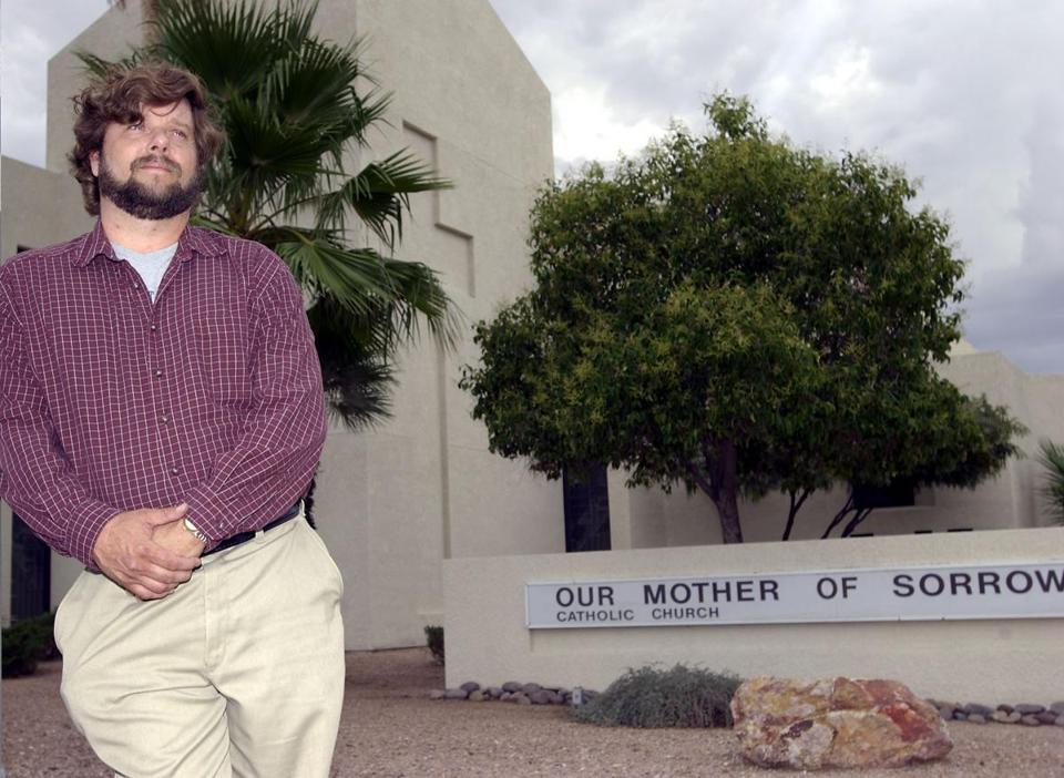 Brian O'Connor, who says he was molested by two priests from Our Mother of Sorrows Church in Tucson, said a bishop was the first to sexually abuse him.
