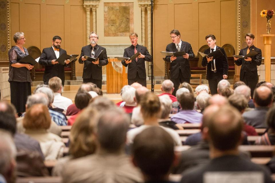On Saturday, the Blue Heron choir presented the third in its series of concerts celebrating Belgian composer Johannes Ockeghem's 600th birthday.