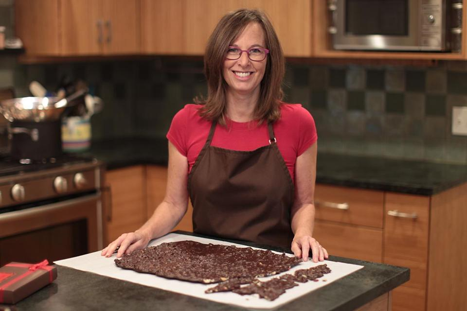 Beth Kirsch makes artisan chocolates and offers classes at her Newton home.