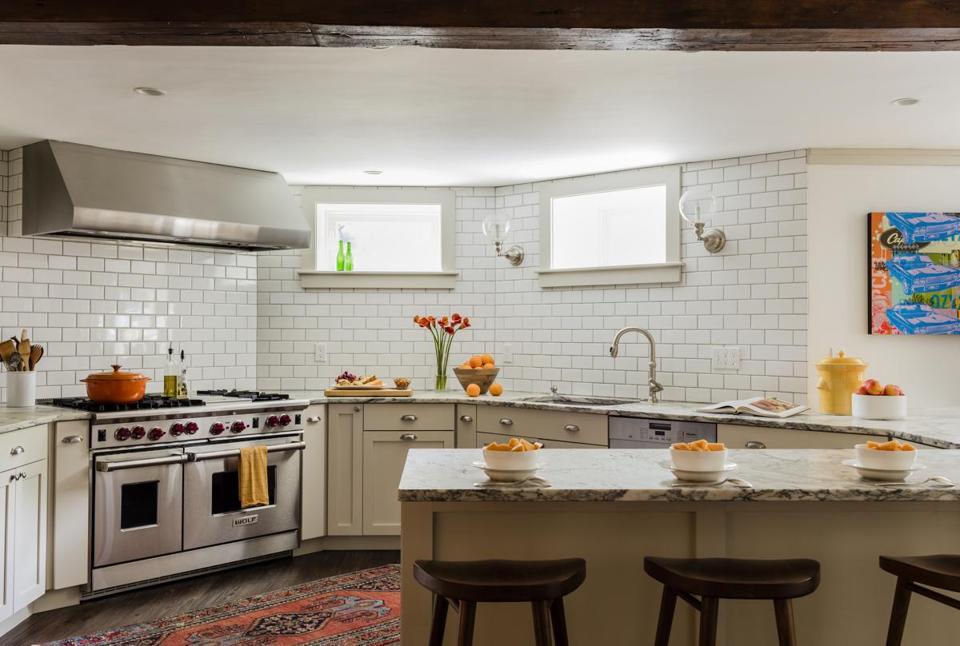 Basement kitchen in Brookline gets revamp - The Boston Globe