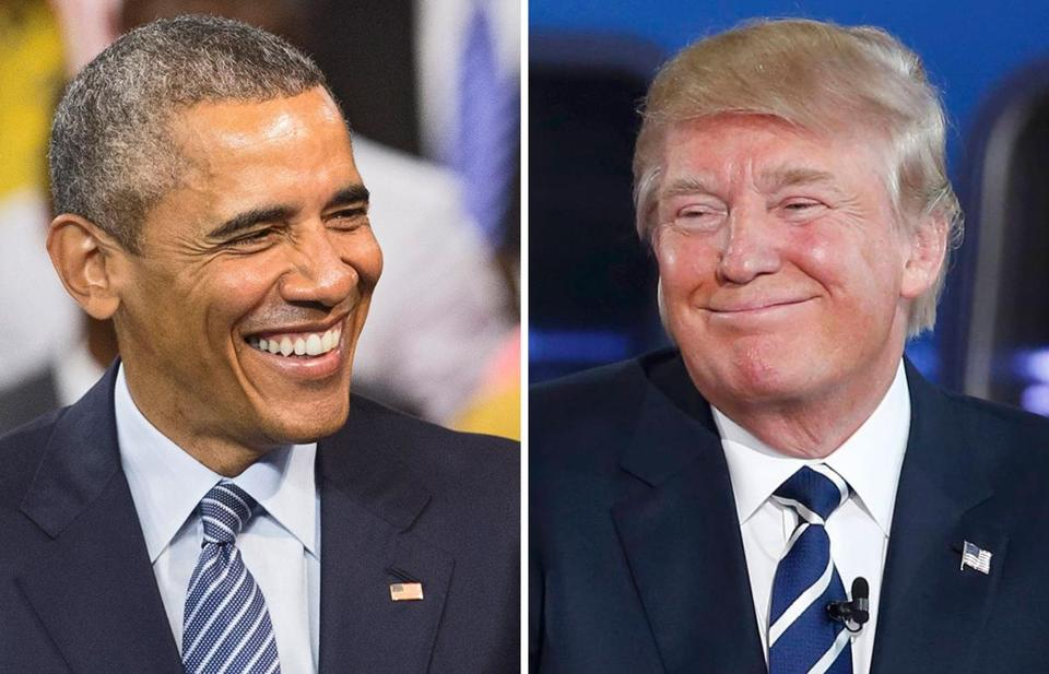 President Obama (left) and Donald Trump.