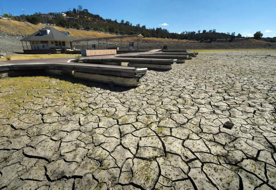 "(FILES) This September 17, 2015 file photo shows boat docks sitting empty on dry land, as Folsom Lake reservoir near Sacramento stands at only 18 percent capacity, as the severe drought continues in California. The first nine months of this year have been record-breaking for heat worldwide, in another sign that dangerous global warming continues to mount, US government scientists said October 21, 2015. Last month marked the ""highest September temperature in the 1880-2015 record, surpassing the previous record set last year,"" said the National Oceanic and Atmospheric Administration (NOAA). AFP PHOTO/ MARK RALSTONMARK RALSTON/AFP/Getty Images"