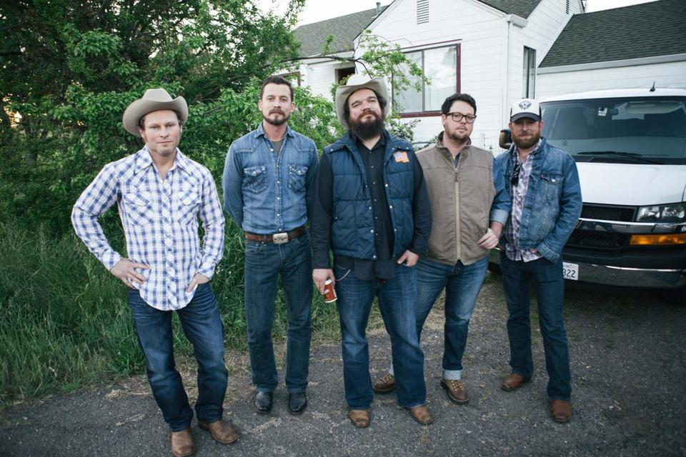 The Turnpike Troubadours are (from left) Kyle Nix, Evan Felker, R.C. Edwards, Gabe Pearson, and Ryan Engleman.