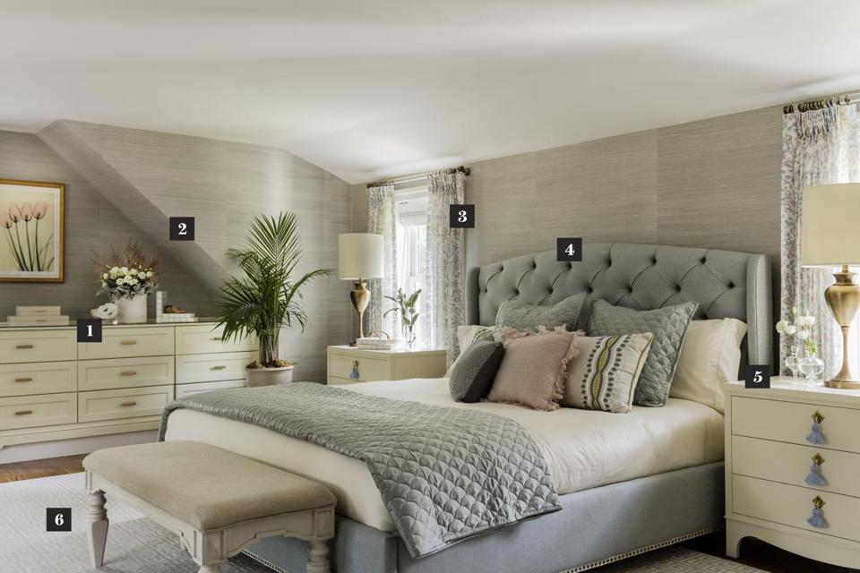 Creating a sanctuary in a westwood master bedroom the for The master bedroom print
