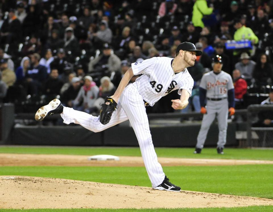 Chris Sale is one of three White Sox pitchers to throw at least 200 innings this season.