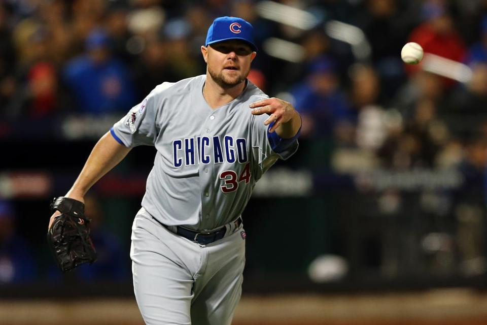 Jon Lester will be working on his fielding mechanics this offseason.
