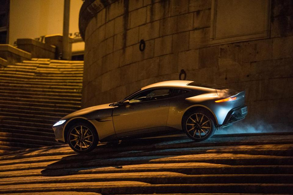 "The Aston Martin DB10 (left) was produced specifically for use in ""Spectre."" Earlier Aston Martin models appeared in ""Thunderball"" (below) and ""On Her Majesty's Secret Service"" (bottom)."