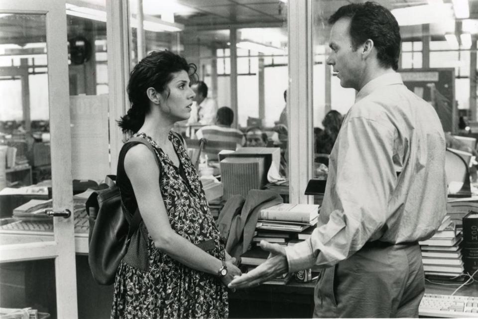 "Ron Howard's ""The Paper"" (1994) featured Michael Keaton and Marisa Tomei."