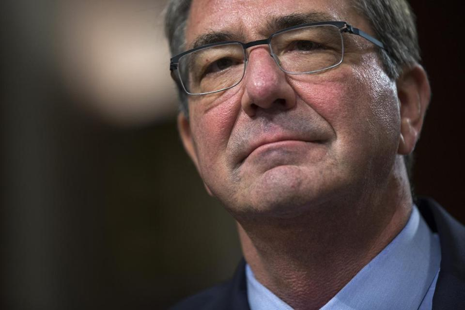 Defense Secretary Ashton Carter testified before a Senate Armed Services Committee hearing on Tuesday.