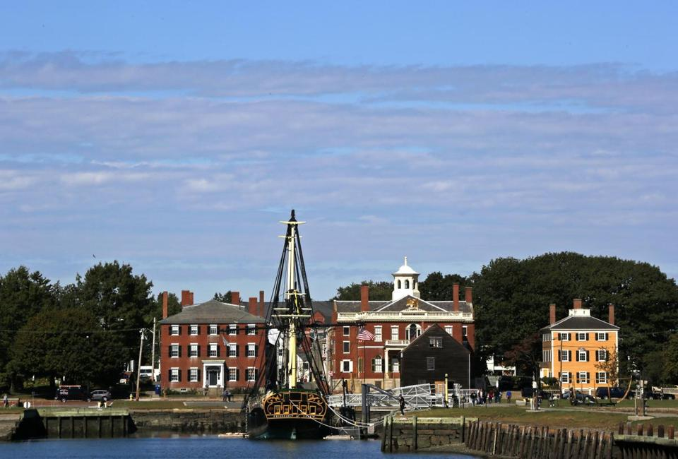 Leaving Pickering Wharf, the view of historic Salem.