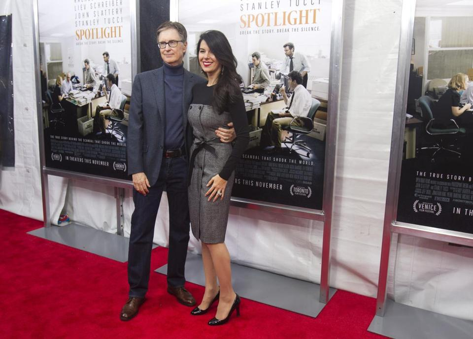 John Henry (left) the owner of the Boston Globe, and his wife, Linda Pizzuti Henry.