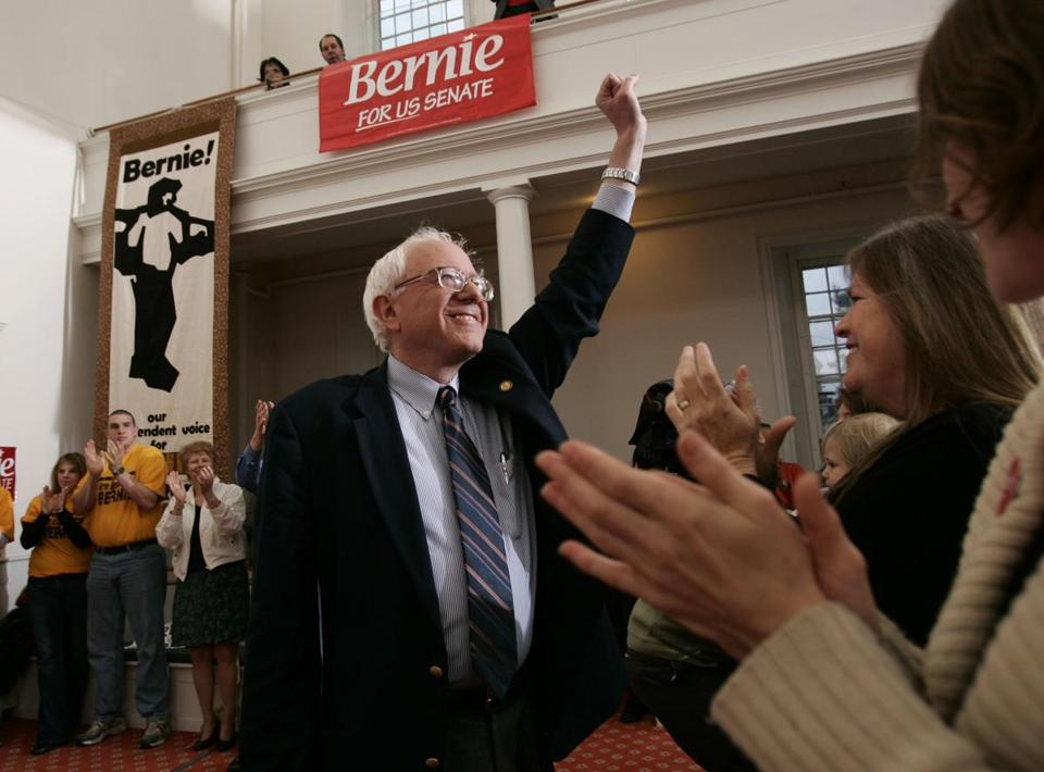 Bernie Sanders announced his candidacy for the US Senate in May 2006 at the Unitarian Church in Burlington, Vt.
