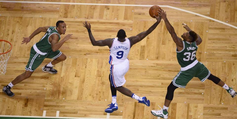 epa05001237 boston celtics guard marcus smart r steals the ball from 76ers guard - Parquet Floor