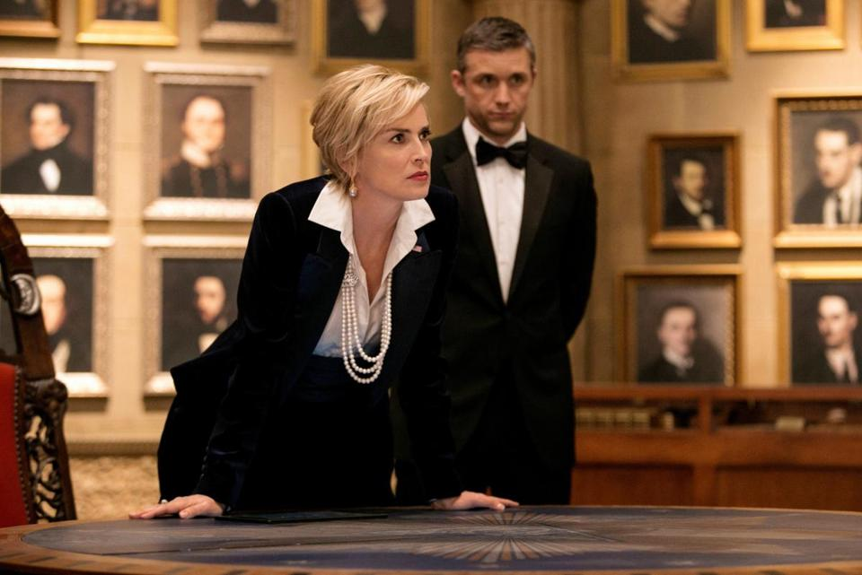 "Sharon Stone stars as the vice president in TNT's ""Agent X."""