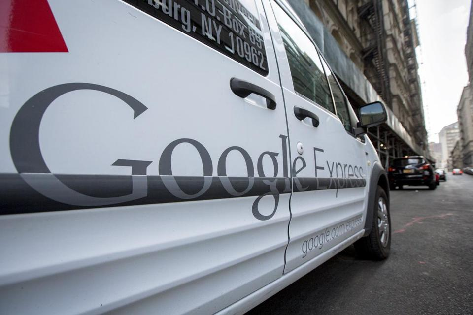 A Google Express delivery truck is parked in New York August 17, 2015. REUTERS/Brendan McDermid