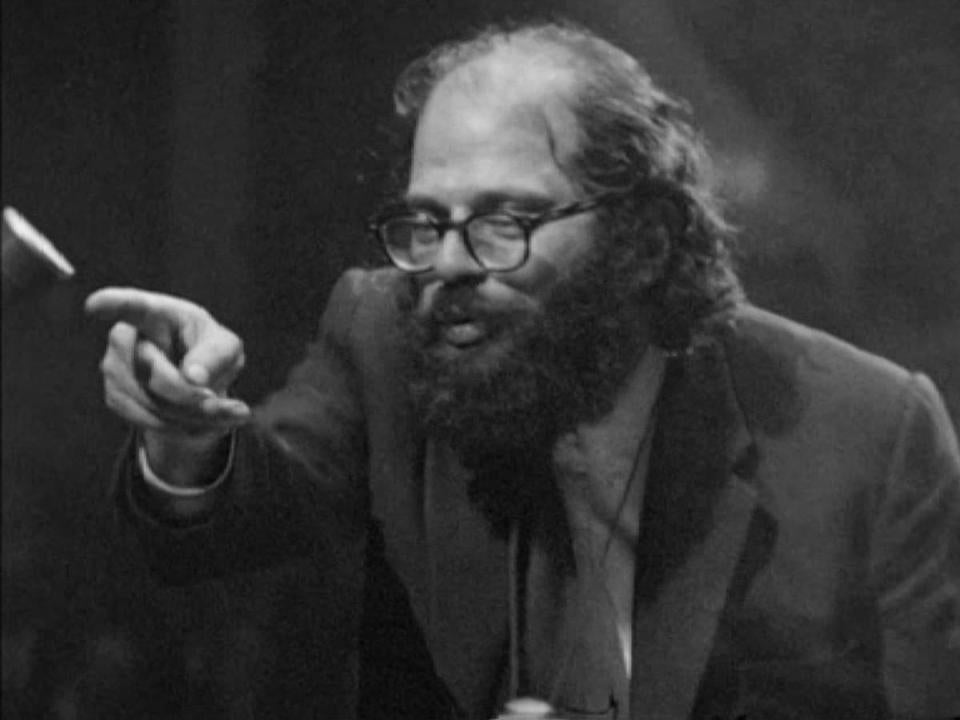 "Allen Ginsberg in ""Wholly Communion."""