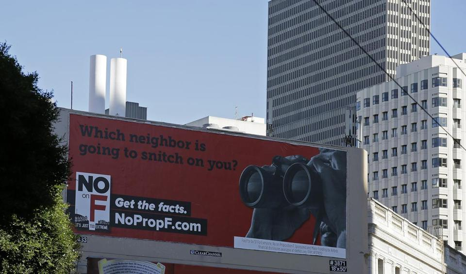 A Billboard In San Francisco Urged Residents To Vote No On Ballot Measure Limit