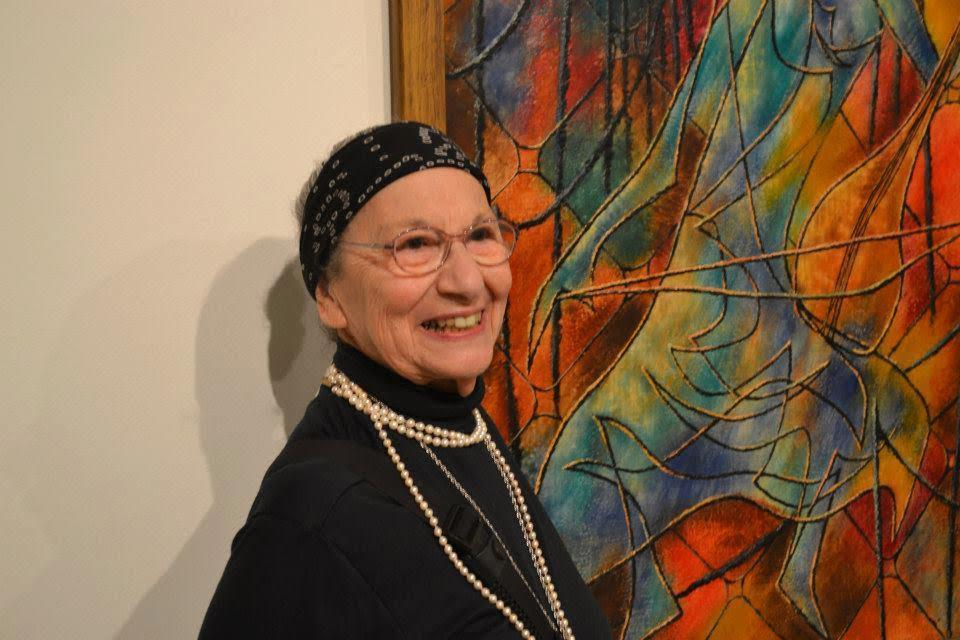 Esther Geller exhibited her encaustic paintings for about 70 years.