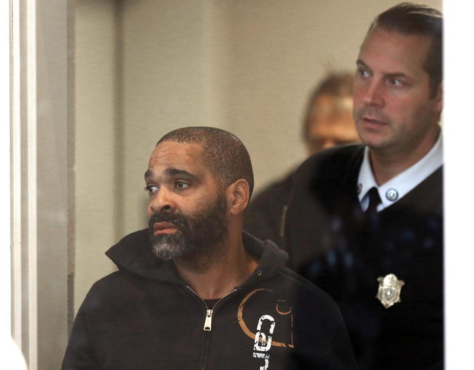 Bryant Gilbert was arraigned in Dorchester court after allegedly dragging two Boston Police officers.
