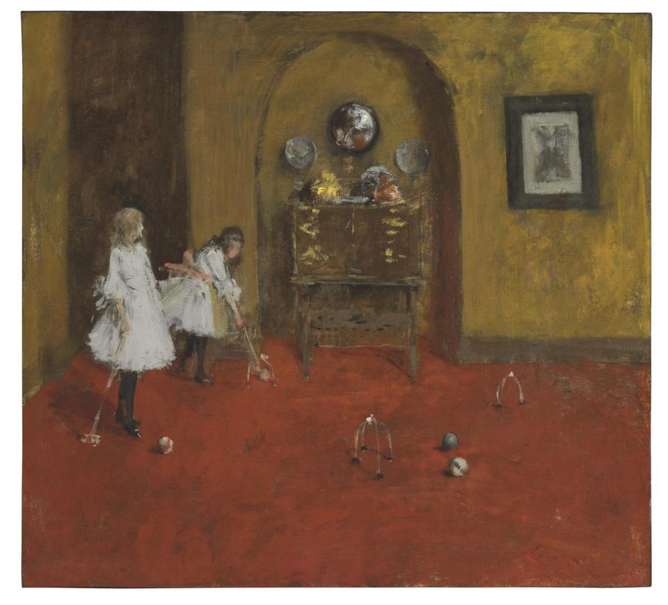 """The Croquet Game,"" painted in 1888 by the Indiana-born Impressionist William Merritt Chase, will be offered with a $4 million-$6 million estimate at Christie's Nov. 19 American Art Auction in New York."