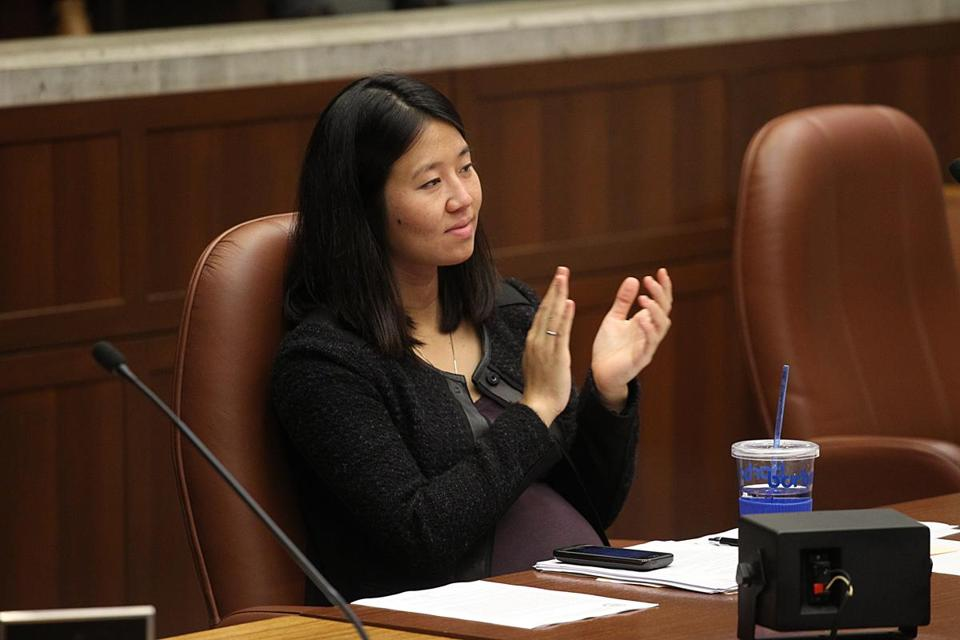 Michelle Wu, an Asian-American, wants to be the next council president.