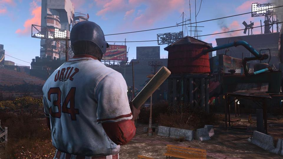 "13fallout -- Fans of ""Fallout 4,"" which takes place in a Boston wasteland and was released this week, can now have their characters wear David Ortiz's jersey during gameplay. (Richie Branson)"