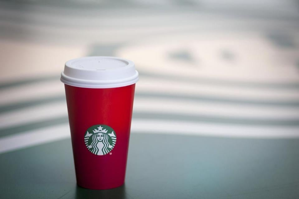 a look at starbucks red holiday cups the boston globe