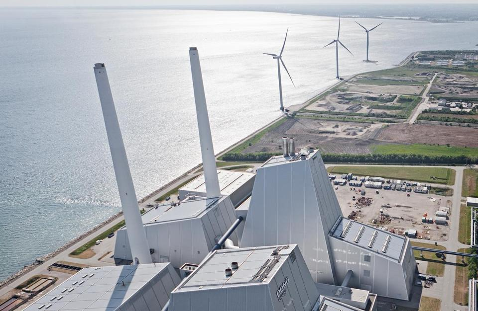 Over three decades, DONG has built one-third of the world's offshore wind-energy capacity. Above, its Avedore power plant in Copenhagen.