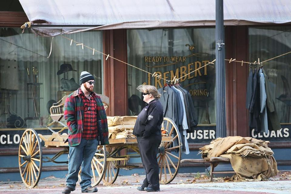 "Lawrence, MA 111315 Ben Affleck's movie, ""Live by Night,"" features re-done storefronts on Appleton Way in Lawrence, Friday, November 13 2015. (Globe Staff/Wendy Maeda) section: Lifestyle slug: 14LawrenceNames reporter: In-Cap"