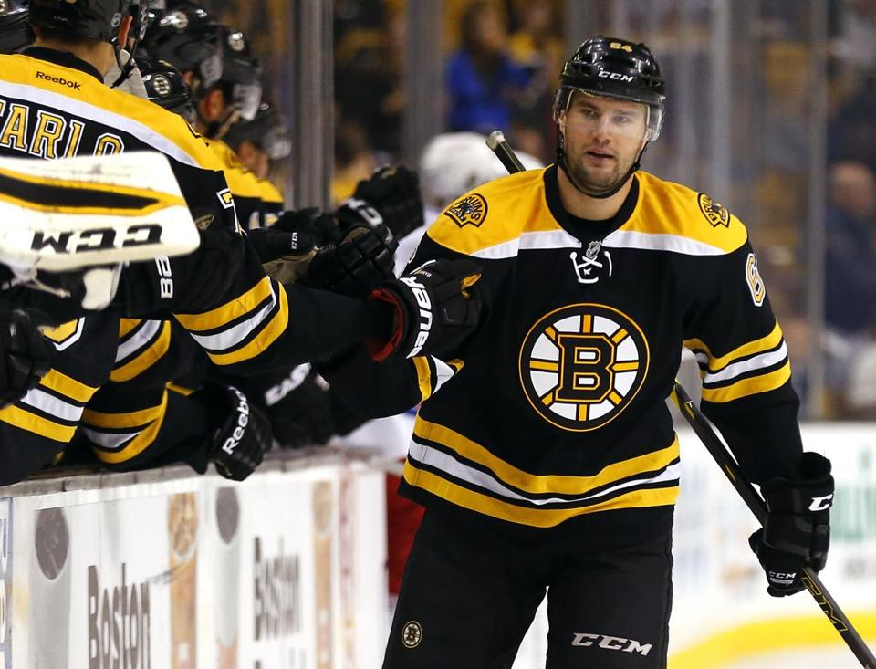 Thanks to the team nutritionist, Bruins winger Tyler Randell is eating a lot healthier than he did as a teenager.