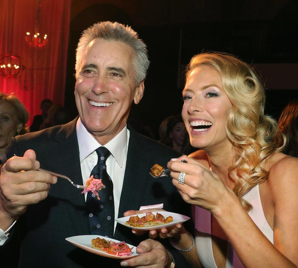 Billy Costa and Jenny Johnson at the Castle at Park Plaza in 2015.