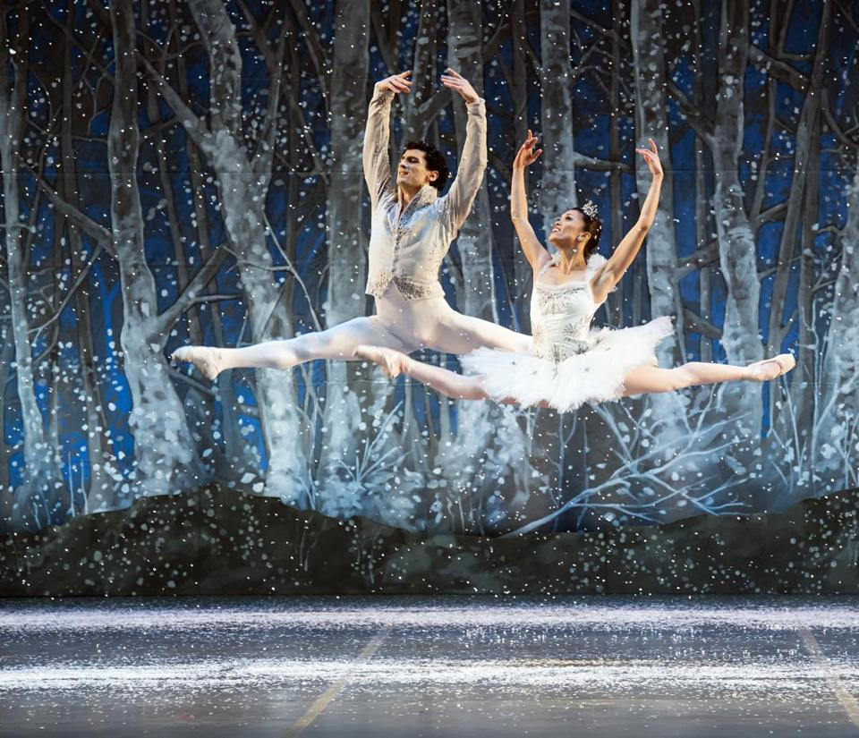 "Lasha Khozashvili and Lia Cirio in Boston Ballet's ""The Nutcracker."""