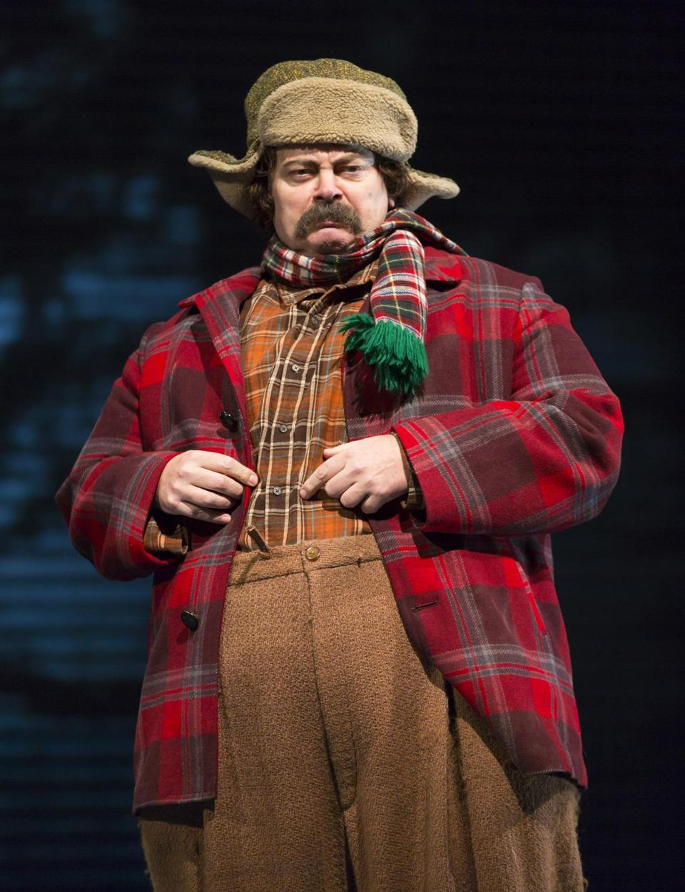 "The Huntington Theatre Company presents ""A Confederacy of Dunces."" Pictured: Nick Offerman as Ignatius J. Reilly. Photo credit: T. Charles Erickson -- 20Dunces"