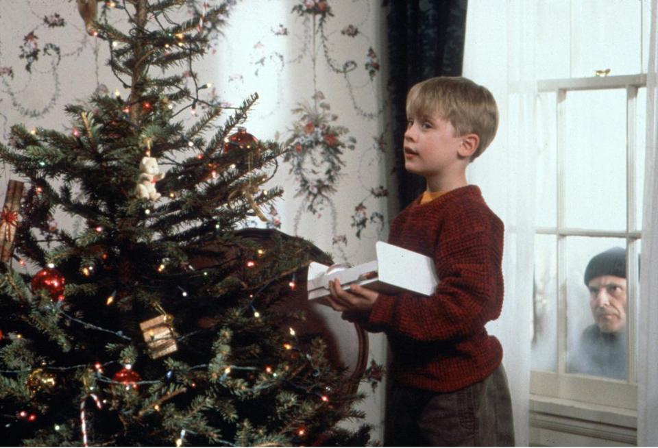 "Macaulay Culkin and Joe Pesci (right) in ""Home Alone,"" which screens Dec. 9 and Dec. 23."