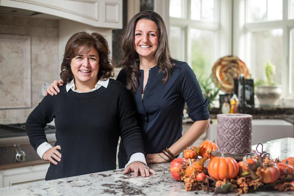Amanda Santucci (right) has a more healthy take on Thanksgiving food than her aunt, Lauren.