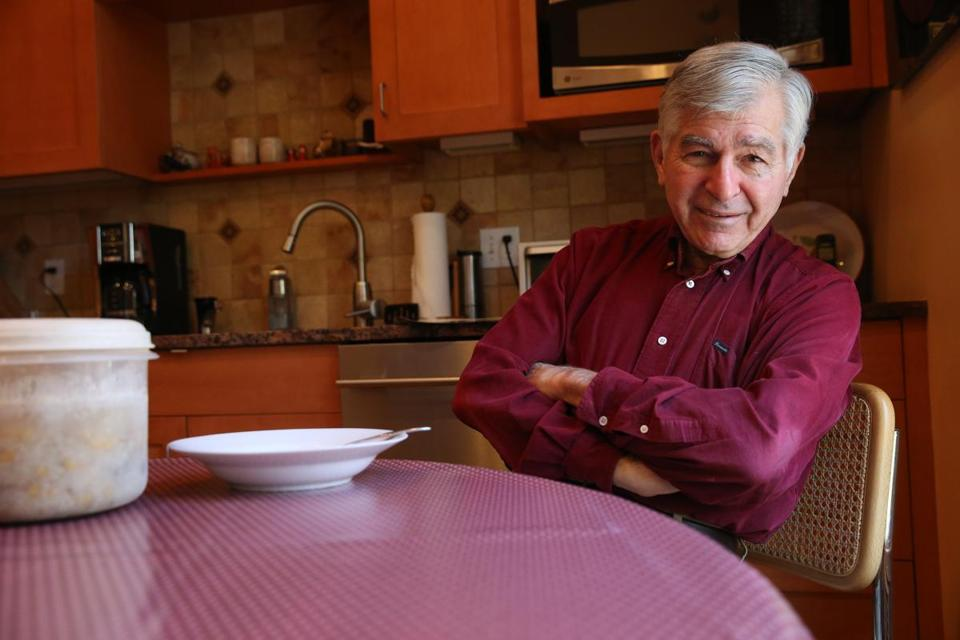 Brookline, MA 11/25/2015 Ð Former governor Michael Dukakis (cq) in the kitchen of his home in Brookline, MA on November 25, 2015. (Globe staff photo / Craig F. Walker) section: National reporter: Viser
