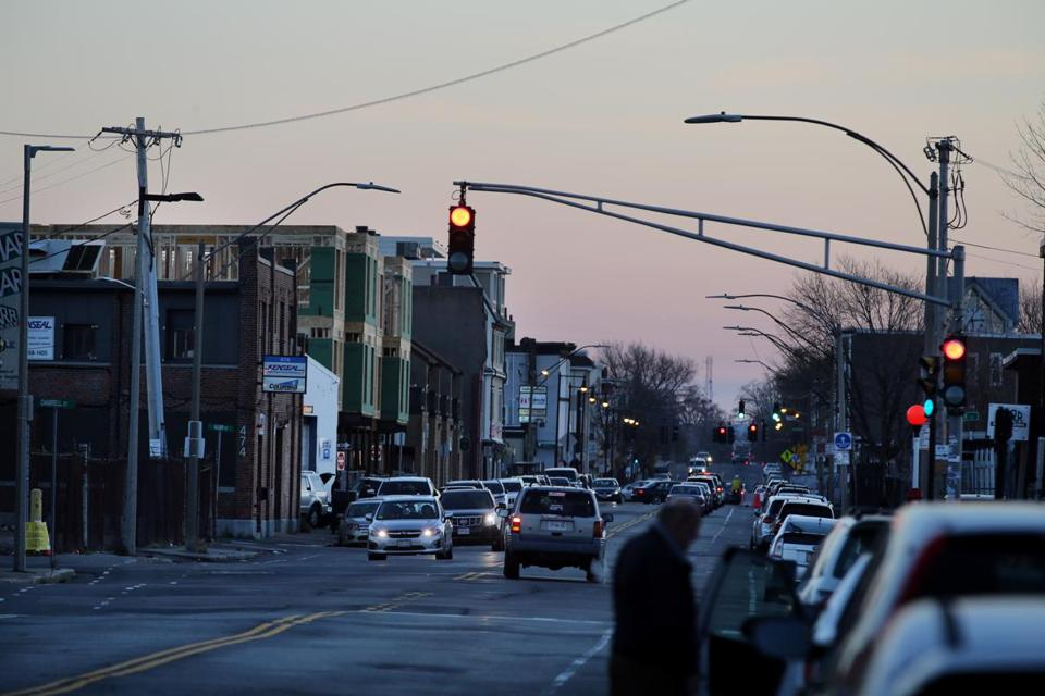 Under the BRA plans for Dorchester Avenue, developers could be allowed buildings as high as 300 feet closer to the railroad tracks or T stations if they include more affordable housing or make other concessions.