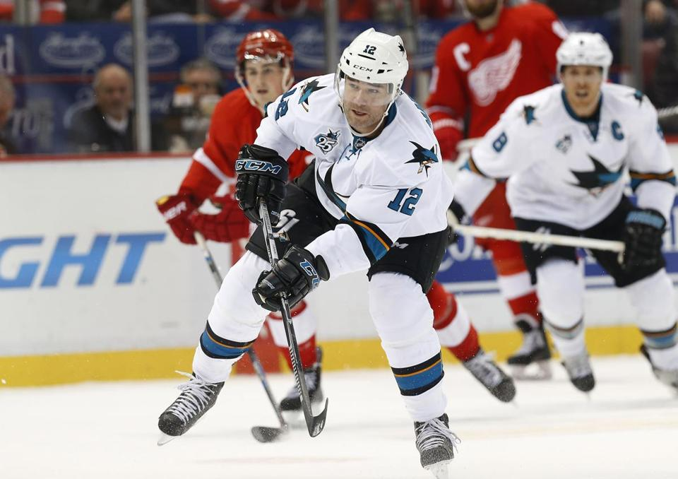 Sharks center Patrick Marleau took a shot during a recent game.