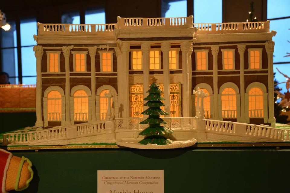 Newport Mansions Gingerbread House Display.
