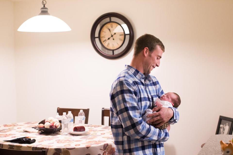 Ryan Lonergan (with daughter Ashtyn) was among 178 Barnstable inmates who agreed to a Vivitrol shot.