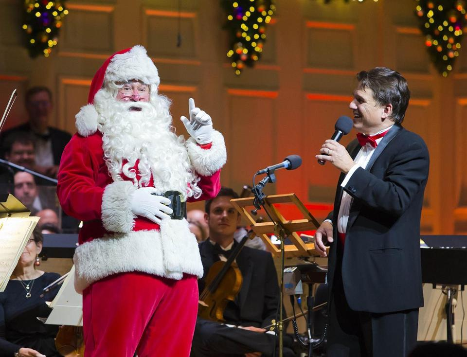 A special guest joined conductor Keith Lockhart at opening night of Holiday Pops.