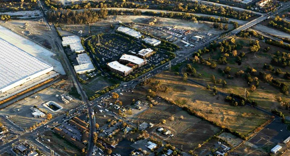 The Inland Regional Center complex was pictured in an aerial photo.