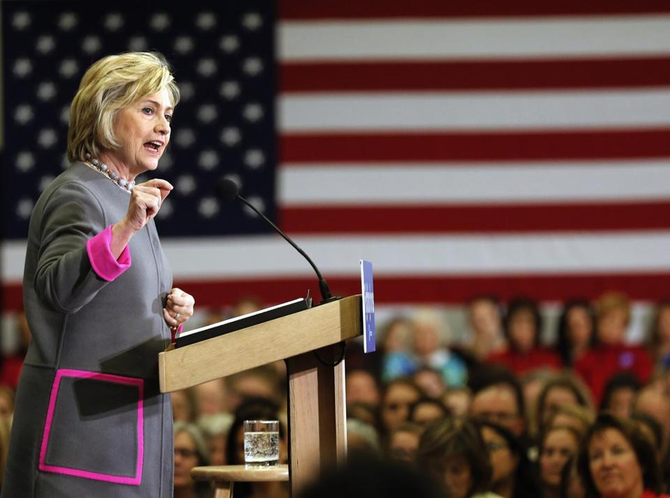 Democratic presidential candidate Hillary Clinton spoke to students and faculty at the Southern New Hampshire University.