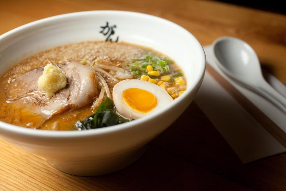 Miso ramen is considered the house specialty at Ganko Ittetsu Ramen.