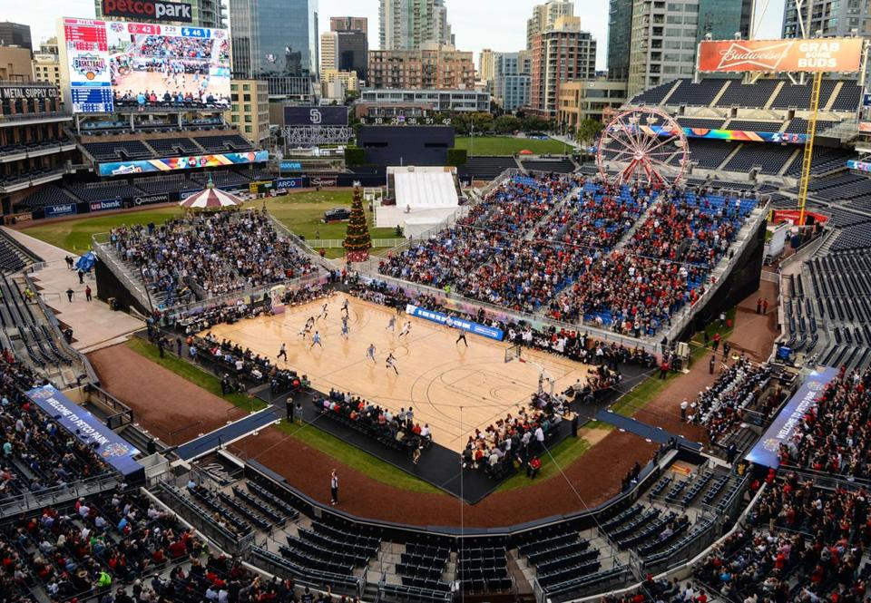 Outdoor basketball works in San Diego's ballpark - The ...