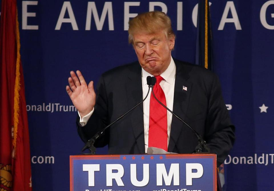 Republican presidential candidate Donald Trump spoke during a rally in Mt. Pleasant, S.C., on Monday.