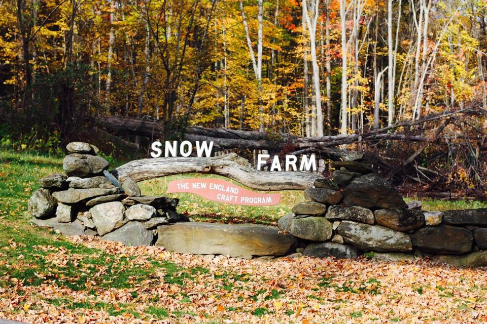 Snow Farm, a nonprofit in Williamsburg offers classes in glassblowing, metalwork, and more.