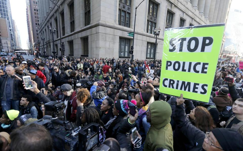 Hundreds Take To Streets In Chicago To Protest Police Shootings