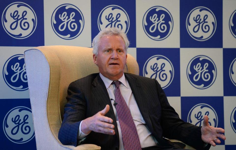 General Electric's chief executive officer Jeffrey R. Immelt addressed a press conference in New Delhi.